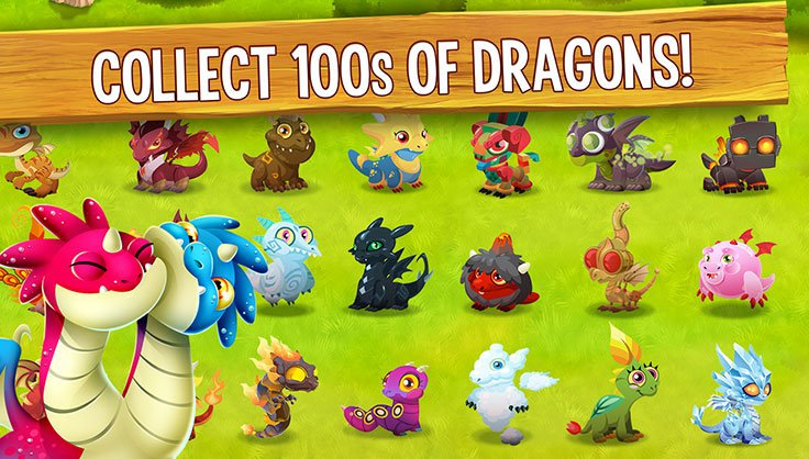 Collect 100s of Dragons!